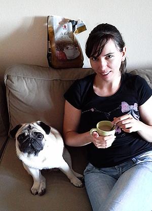 Ganodermás kávé kutyussal