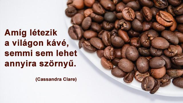 Kávé idézetek kávészemekkel