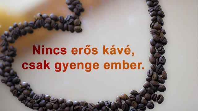 Kávészemek szívvel