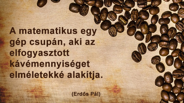 Matematikus kávé idézet