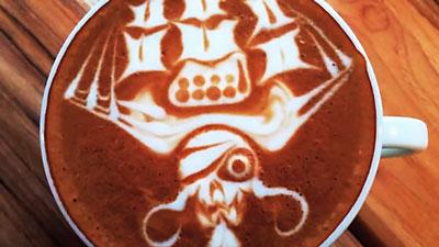 Latte art kalóz