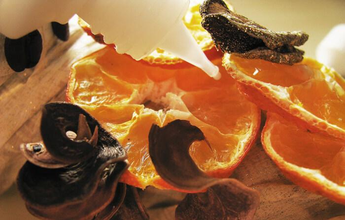 Mandarin karikák adventi koszorúra
