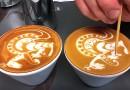Latte art kenguru készítése