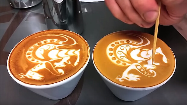 Latte art kenguru