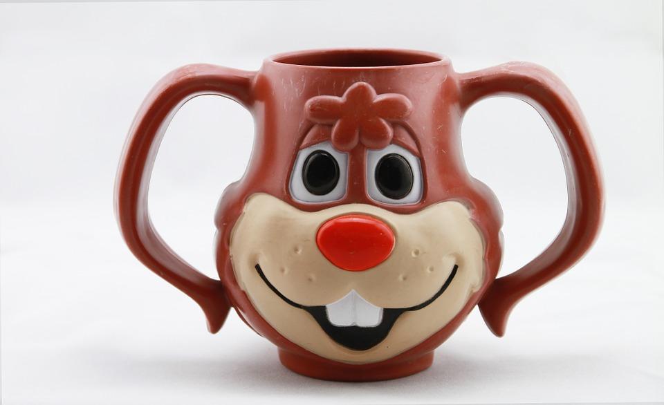 Nyuszis design kávés bögre