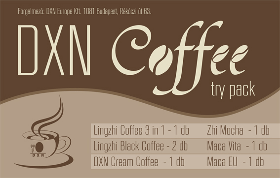 DXN Coffee Try Pack kávé csomag