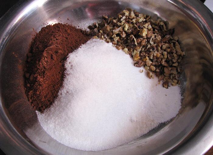 A muffin tészta száraz alapanyagai