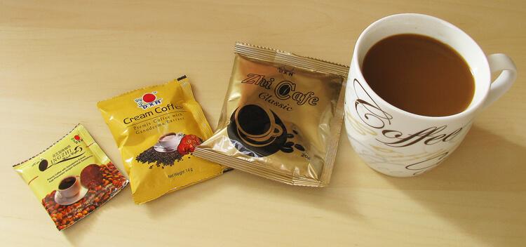 Ganodermás kávétasakok