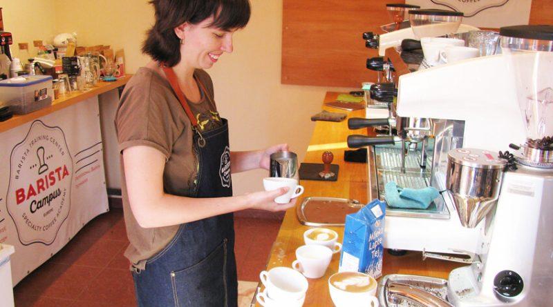 Latte art gyakorlás