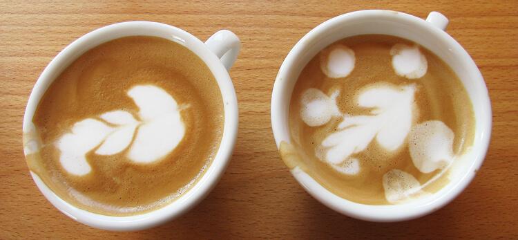 Latte art képzés: Latte art tulipán némi gyakorlás után