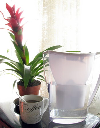 BWT vízszűrő kancsó a kedvenc kávémmal