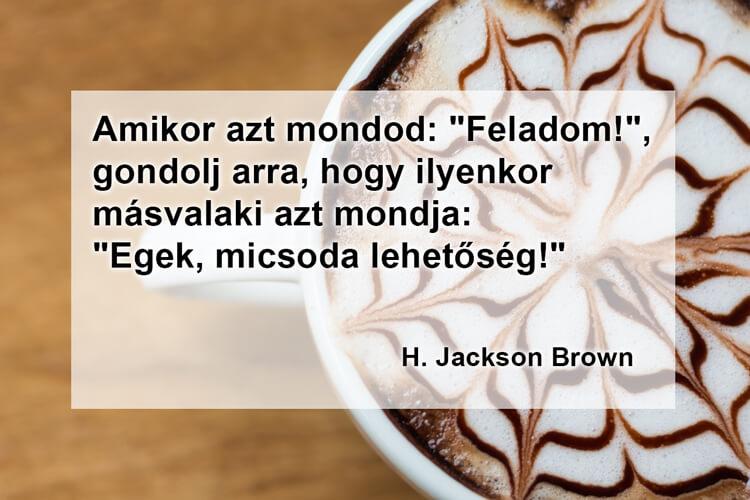 Idézetek kávé mellé: H. Jackson Brown