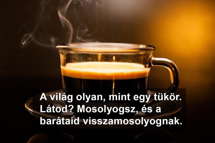 Idézetek kávé mellé - A világ olyan, mint egy tükör.