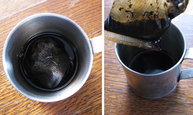 Filteres kávé áztatása
