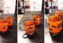 Halloween kávés pohár díszítése lépésről lépésre