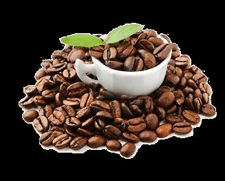 Kávébabok csészében